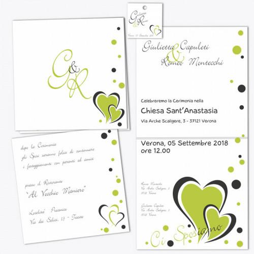 Creare Partecipazioni Matrimonio Online.Partecipazione Green Apple Crea E Stampa Online Partecipazioni