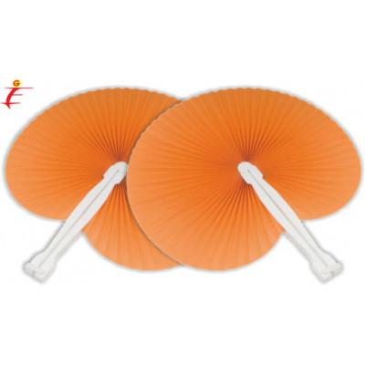 Ventaglio pieghevole arancio